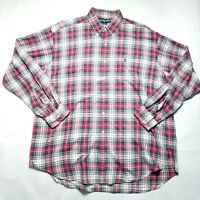 Vintage Ralph Lauren Blaire 100% Cotton Plaid Button Shirt Mens XL