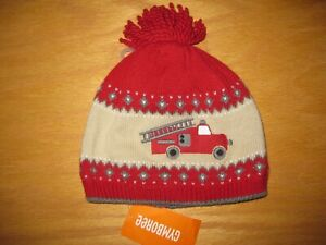 NWT Gymboree Rescue Squad 2T-3T Red Fire Engine Truck Hat