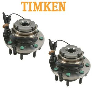 For Ford Excursion F-250 4WD Pair Set of Front Wheel Bearings & Hubs Timken