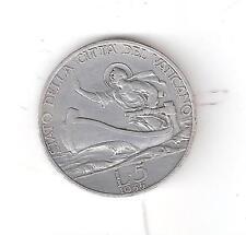 A192) VATICANO PIO XI  LIRE 5 D'ARGENTO  DEL 1935  BB+