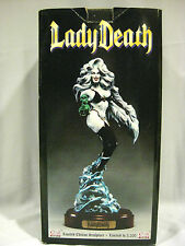 RARE LIMITED EDITION LADY DEATH SCULPTURE STATUE+2 FREE PRINTS+1 FREE FIGURE