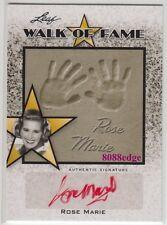 "2011 LEAF POP CENTURY AUTO: ROSE MARIE - WALK OF FAME AUTOGRAPH ""DORIS DAY SHOW"""