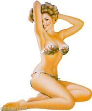 "Vintage Retro Girl Sandy Sticker Right Facing Decal Pair (2) 3"""