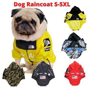 Dog Waterproof Coat The Face Jacket Pet Raincoat Reflective Vest Outdoor Dogs