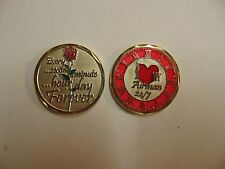 CHALLENGE COIN UNITED STATES AIR FORCE I LOVE MY AIRMAN 24/7 FOREVER HOUR DAY