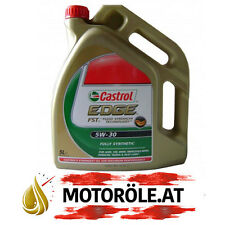 5 L LITER CASTROL EDGE FST™ 5W-30 MOTOR-ÖL MOTOREN-ÖL VW AUDI BMW MB LONGLIFE 4