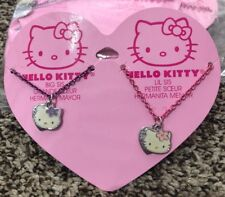HELLO KITTY SISTER SET Matching  Necklace NEW