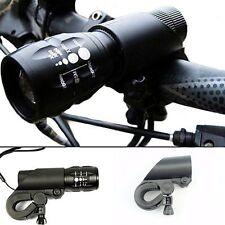 Bike Bicycle Led Laser Torch Flashlight Mount Clamp Clip Grip Bracket Holder