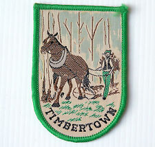 VINTAGE TIMBERTOWN WAUCHOPE NSW EMBROIDERED SOUVENIR PATCH WOVEN CLOTH BADGE
