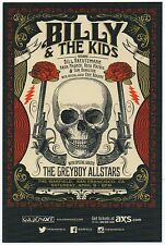 BILLY & THE KIDS (GRATEFUL DEAD) CONCERT HANDBILL JUSTIN HELTON STATUS SERIGRAPH