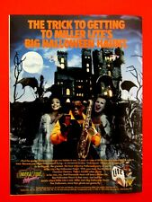 "Clarence Clemons Halloween 1990 Miller Lite Original Print Ad 8.5 x 11"""