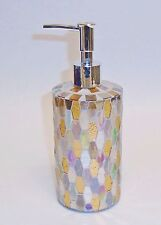 NEW GLASS MOSAIC CLEAR+COPPER TILE STYLE,BATHROOM,KITCHEN SOAP,LOTION DISPENSER
