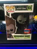 FUNKO POP! THE SIMPSONS TREEHOUSE OF HORROR WEREWOLF BART NYCC Damaged