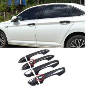 For Volkswagen Jetta 2019-20 2021 Carbon fiber black Keyless door handle cover*8