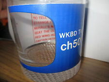 Orig 70's WKBD TV Channel 50 Detroit Promo Glass Star Trek Lou Gordon RED WINGS