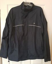Dunlop GOLF Men Blue Coat Jacket Waterproof Rain Coat Windbreaker Outdoor LARGE