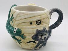Halloween 3D Coffee Mug Cup Mummy Wolf Spider Lizard Jc Penney Home Collection