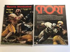 1972 Sports Illustrated WASHINGTON REDSKINS Lot Set of 2 No Label LARRY BROWN
