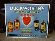 ORIGINAL Unused Duckworths Vintage Retro Shop display Poster Old Trafford