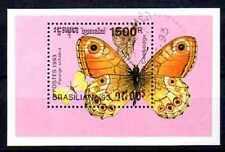 Papillons Cambodge (1) bloc oblitéré