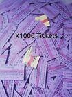 Used Sri Lanka Different 1000 Railway Train Tickets For Collectors Old Edmonson