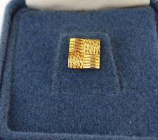 Vintage Tie Tack Pin in Original Gift Box Square Weave