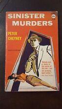"""Peter Cheyney, """"Sinister Murders,"""" 1957, Avon 776, VG, 1st"""