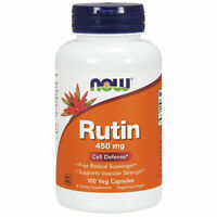 NOW Foods Rutin 450mg 100 Veggie Caps | Cardiovascular Health Vascular Strength