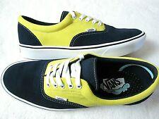 Vans Mens Comfycush Era Suede Canvas shoes Dress Blues Yellow Size 12 NEW