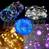 5M Battery Operated Lights 50 LED Micro Wire Waterproof Fairy Xmas Party Decor