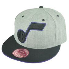 NBA Mitchell Ness Utah Jazz TV28 XL Logo Heather Fitted Hat Cap