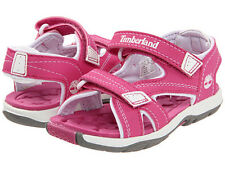 Timberland Mad River Girls Toddler Pink White Casual Shoes 2 Strap Sandals 43865