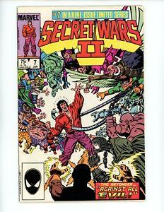 Secret Wars II #7, FN+ 1986 Mephisto Rallies every single Super Villain Phoenix