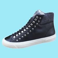 DIESEL S-Mustave MC Womens Zip-Round High Top Fashion Sneaker Black Size 10 New