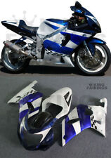 New Blue White Injection Kit Fairing Fit for Suzuki 2001-2003 GSXR600/750 K1 k10