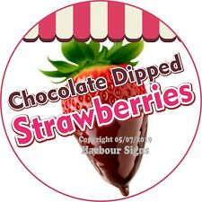 Strawberries Chocolate DECAL (Choose Size) Concession Food Truck Circle Sticker