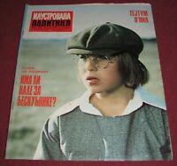 Tatum O'Neal ILUSTROVANA POLITIKA Yugoslavian November 1976 RARE