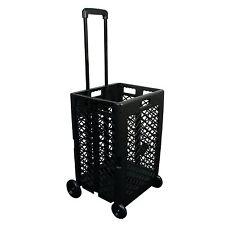 Portable Rolling Shopping Cart Basket Storage Folding Wheel Utility Grocery, NEW