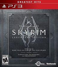 """Neuf THE ELDER SCROLLS V 5 : """" SKYRIM LEGENDARY """" édition (Sony Playstation"""