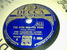 THE VAGABOND LOVER THE STAR AND THE ROSE &VENETIAN MOON DECCA F5954
