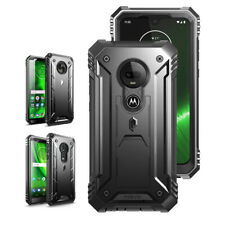 For Motorola Moto G7 /G7 Plus/G6/ G6 Play [Heavy Duty] Hard TPU Case Cover Black