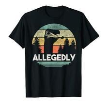 Allegedly Ostrich Funny Bird Lover TShirts Gift Tee size M-3XL Men's Shirt Trend