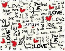 Accessoire ongles nail art , Stickers décalcomanie, spécial Saint Valentin Love