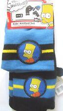 Neuf THE SIMPSONS ENFANTS CHAPEAU GANTS & écharpe taille unique 3-7 ans tricoté