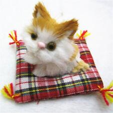 Simulation Stuffed Animal Doll Plush Sleeping Cats Sound Cushion Toy Kids Gift