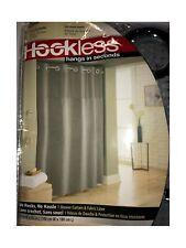 "Hookless Shower Curtain 71"" x 74"" in Frost Grey Waffle"