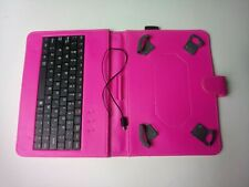 "7"" - 8"" inch Tablet Universal Leather Case Cover with Keyboard mini USB Pink"