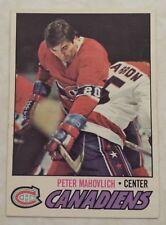 1977-78 OPC O-Pee-Chee Montreal Canadiens Great Peter Mahovich Card 205