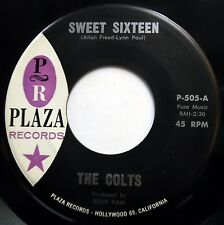 COLTS 45 Sweet Sixteen / Hey Pretty Baby NEAR MINT Doo Wop STAMPED ORIG bb3304
