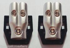 2X DISTRIBUTION BLOCK 0-4-8 Gauge Power Wire Cable Splitter Car Audio Connector